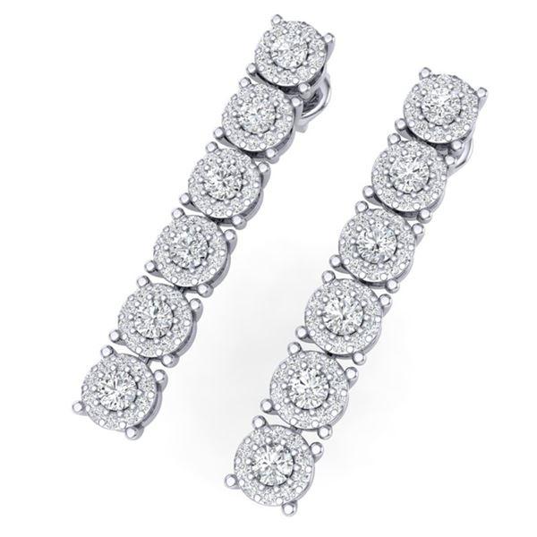 2 ctw Certified SI/I Diamond Halo Earrings 18K White Gold - REF-145M5G