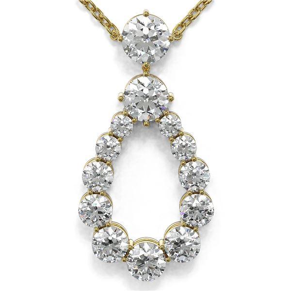 1.66 ctw Diamond Designer Necklace 18K Yellow Gold - REF-178M5G