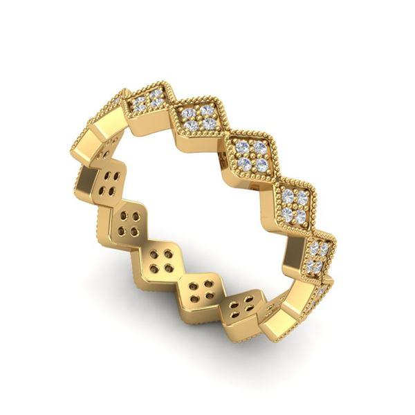 0.42 ctw Eternity Micro Pave VS/SI Diamond Ring Designer 18k Yellow Gold - REF-36K6Y