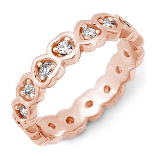 0.50 ctw Certified VS/SI Diamond Ring 10k Rose Gold - REF-28X2A