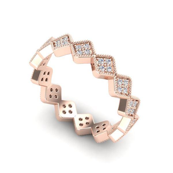 0.42 ctw Eternity Micro Pave VS/SI Diamond Ring Designer 14k Rose Gold - REF-32N8F