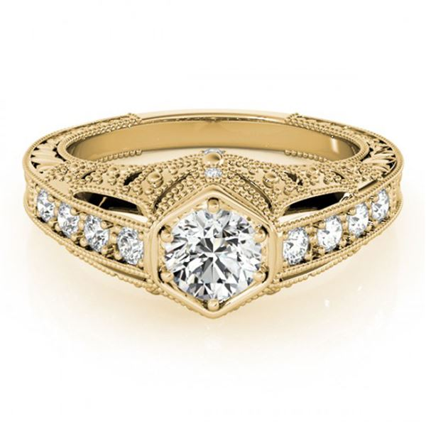 0.65 ctw Certified VS/SI Diamond Antique Ring 18k Yellow Gold - REF-103Y2X