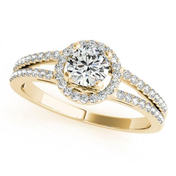 0.75 ctw Certified VS/SI Diamond Halo Ring 18k Yellow Gold - REF-89G2W