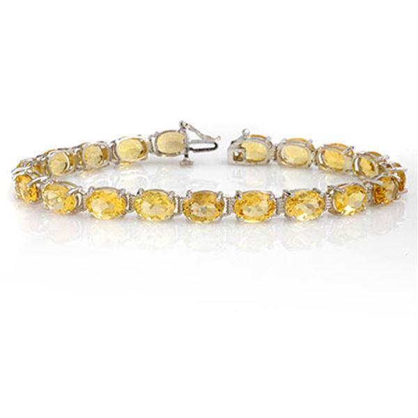 25.67 ctw Citrine Bracelet 10k White Gold - REF-44F4M