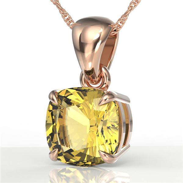 1.50 Cushion Cut ctw Citrine Designer Necklace 14k Rose Gold - REF-15K2Y