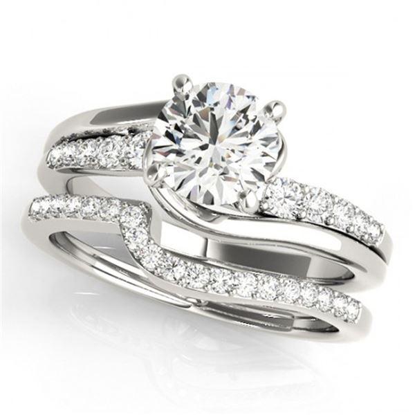 1.1 ctw Certified VS/SI Diamond Bypass 2pc Wedding Set 14k White Gold - REF-105H8R