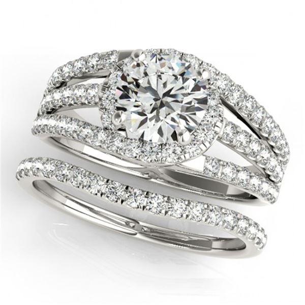 1.15 ctw Certified VS/SI Diamond 2pc Wedding Set 14k White Gold - REF-114R5K