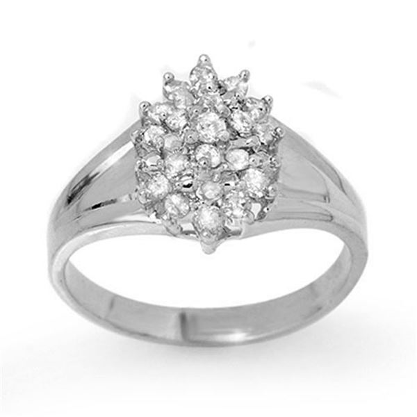 0.25 ctw Certified VS/SI Diamond Ring 14k White Gold - REF-24X3A