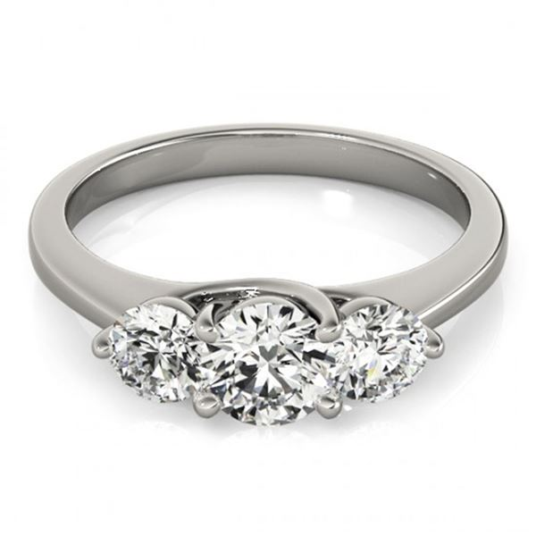 0.5 ctw VS/SI Diamond 3 Stone Wedding Ring 18k White Gold - REF-53R2K