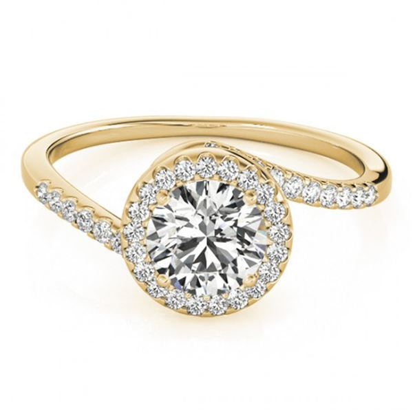 0.75 ctw Certified VS/SI Diamond Bypass Ring 18k Yellow Gold - REF-85Y9X