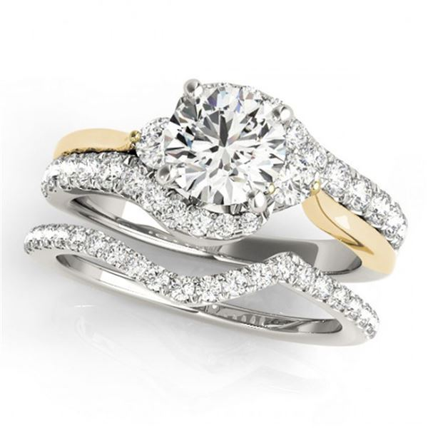 1.31 ctw Certified VS/SI Diamond Bypass Solitaire 2pc Set 14k 2Tone Gold - REF-112K8Y