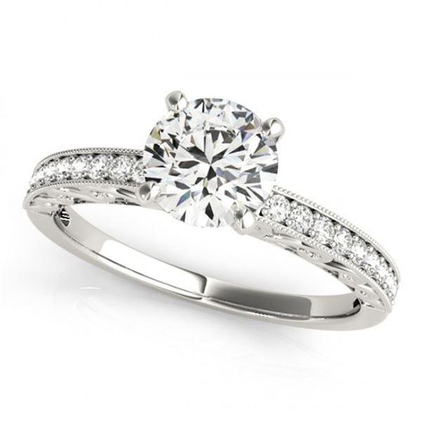 0.5 ctw Certified VS/SI Diamond Antique Ring 14k White Gold - REF-48F3M