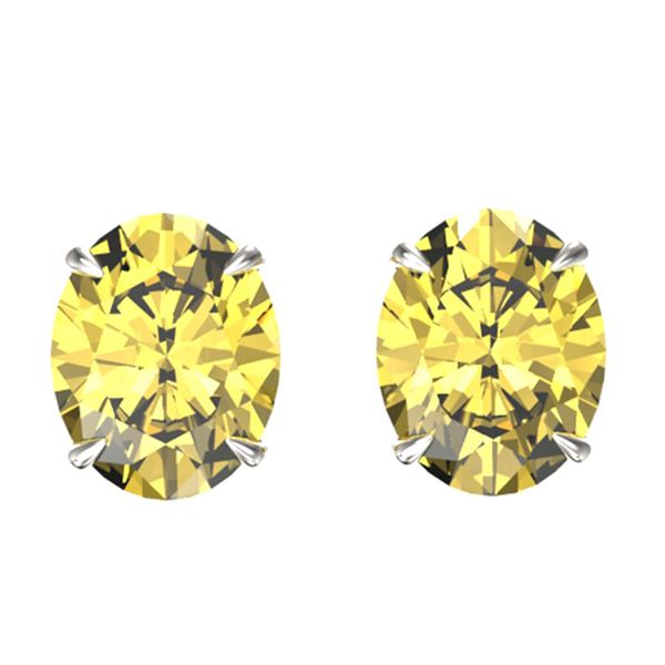 5 ctw Citrine Designer Stud Earrings 18k White Gold - REF-24A8N