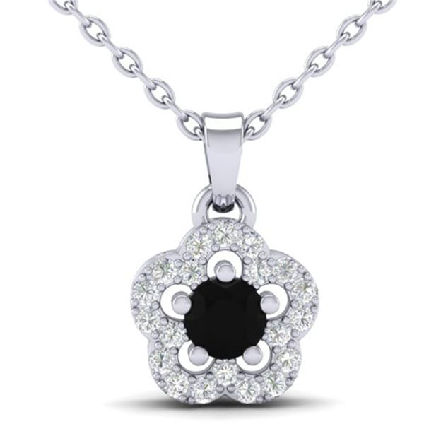 0.33 ctw Micro Pave VS/SI Diamond Certified Necklace 10k White Gold - REF-14K6Y