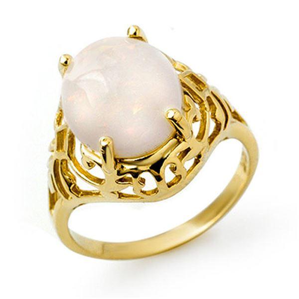 2.55 ctw Opal Ring 10k Yellow Gold - REF-19R2K