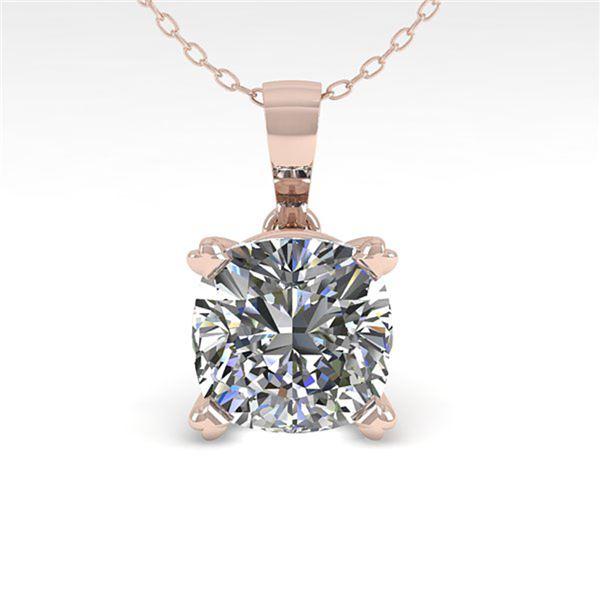 0.50 ctw VS/SI Cushion Diamond Designer Necklace 14k White Gold - REF-57N9F