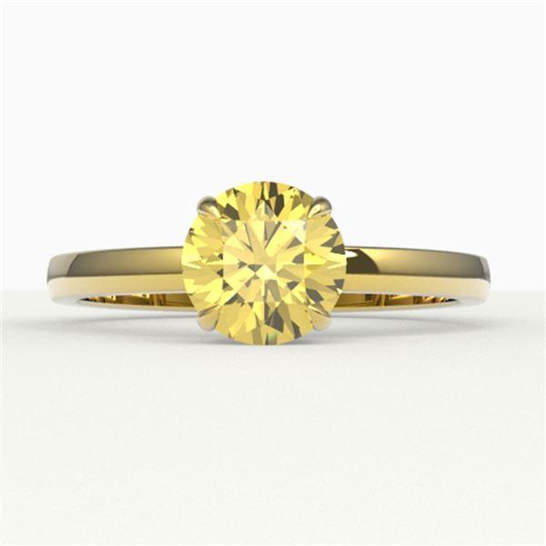 2 ctw Citrine Designer Engagment Ring 18k Yellow Gold - REF-22K8Y