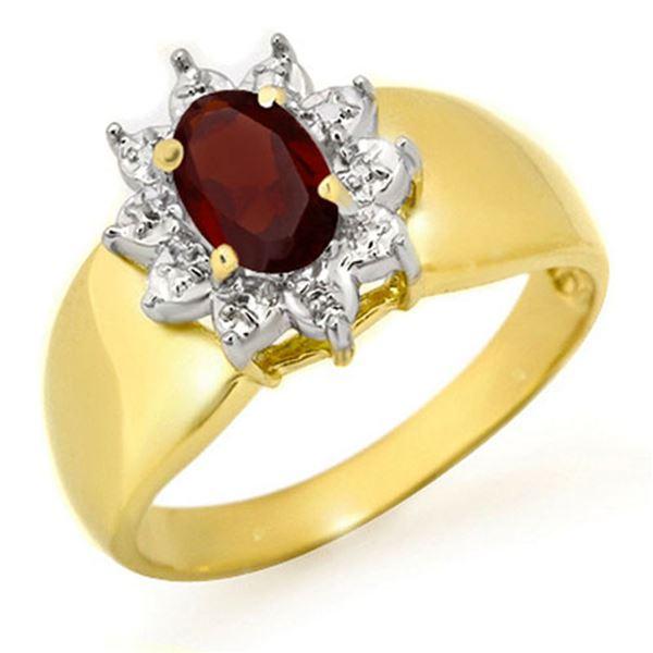 0.50 ctw Garnet Ring 10k Yellow Gold - REF-11Y8X