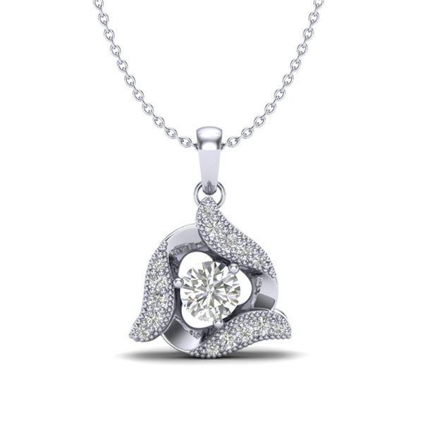 0.38 ctw Micro Pave VS/SI Diamond Certified Necklace 18k White Gold - REF-39K8Y