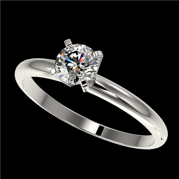 0.54 ctw Certified Quality Diamond Engagment Ring 10k White Gold - REF-40H8R