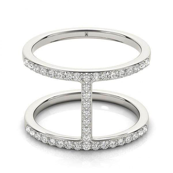 0.5 ctw Certified VS/SI Diamond Fashion Ring 14k White Gold - REF-47M2G