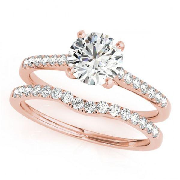 0.85 ctw Certified VS/SI Diamond 2pc Wedding Set 14k Rose Gold - REF-94N6F