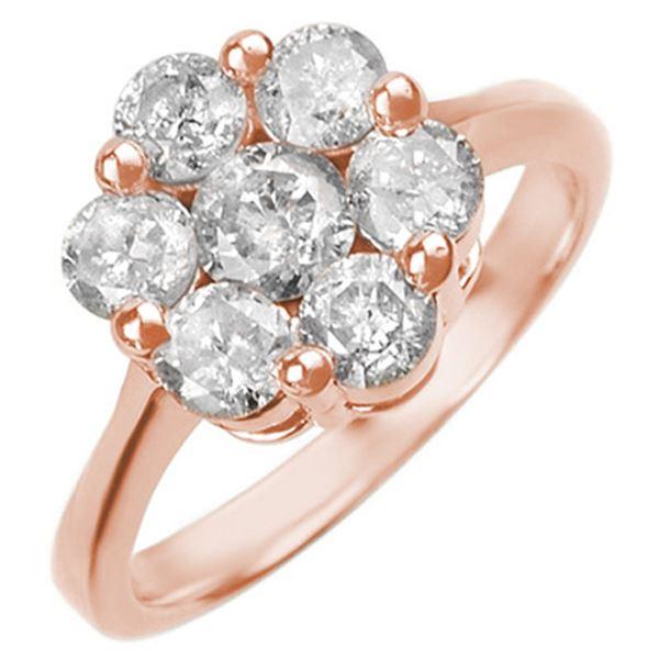 1.50 ctw Certified VS/SI Diamond Ring 14k Rose Gold - REF-166N8F