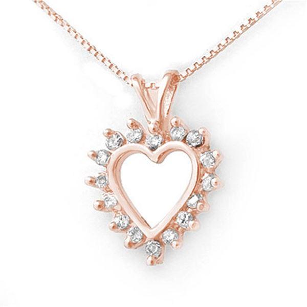 0.50 ctw Certified VS/SI Diamond Pendant 18k Rose Gold - REF-37X3A