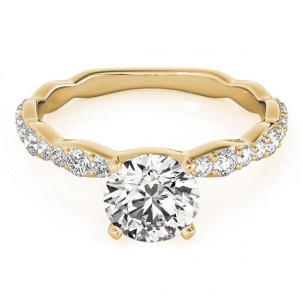 0.93 ctw Certified VS/SI Diamond Ring 18k Yellow Gold - REF-87G8W
