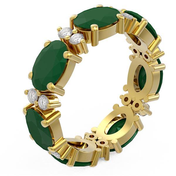 8.62 ctw Emerald Ring 18K Yellow Gold - REF-114H9R
