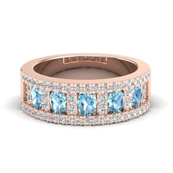 2 ctw TOPAZ & Micro Pave VS/SI Diamond Designer Ring 10k Rose Gold - REF-46N8F