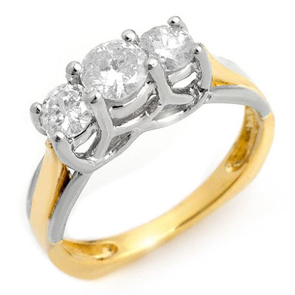 0.75 ctw Certified VS/SI Diamond Ring 2-Tone 14k 2-Tone Gold - REF-84W5H