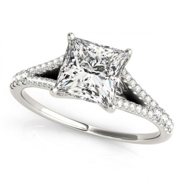 0.81 ctw Certified VS/SI Princess Diamond Ring 18k White Gold - REF-90X8A