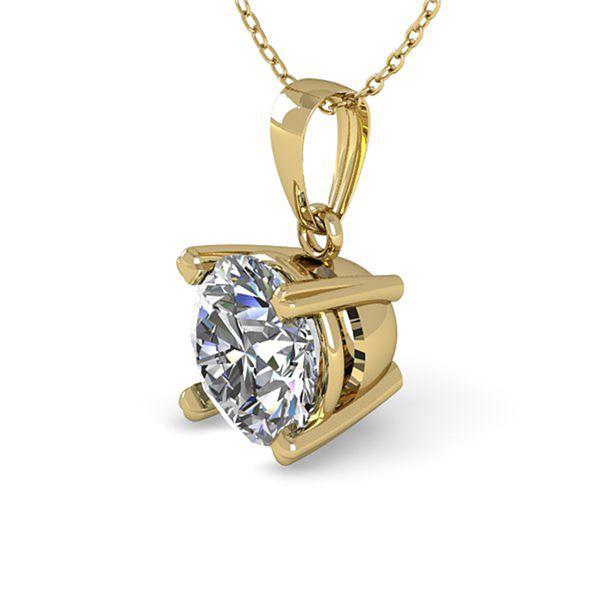 0.50 ctw VS/SI Diamond Designer Necklace 14k Yellow Gold - REF-55K8Y