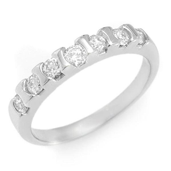 0.65 ctw Certified VS/SI Diamond Ring 18k White Gold - REF-47N9F