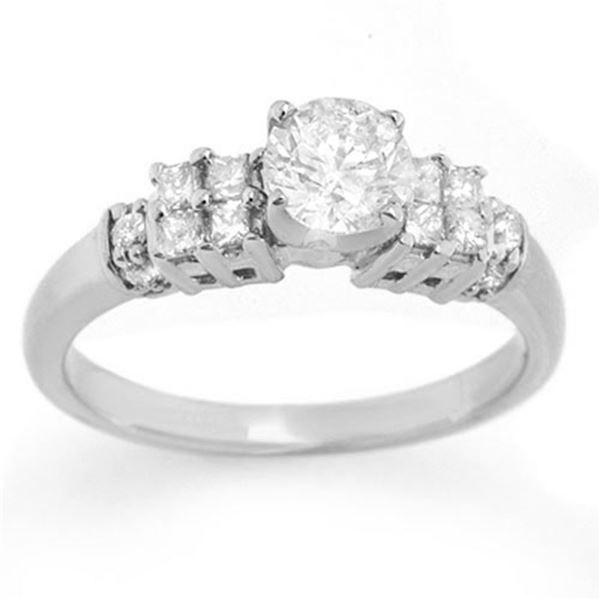 1.0 ctw Certified VS/SI Diamond Ring 14k White Gold - REF-154H5R