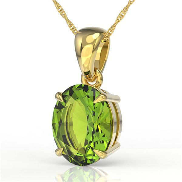 2.75 ctw Peridot Designer Necklace 18k Yellow Gold - REF-23M2G