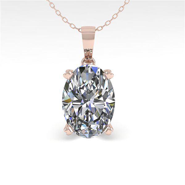 0.50 ctw VS/SI Oval Diamond Designer Necklace 18k White Gold - REF-70M2G