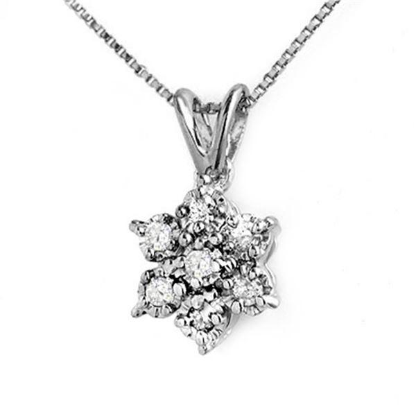 0.25 ctw Certified VS/SI Diamond Pendant 14k White Gold - REF-17G2W
