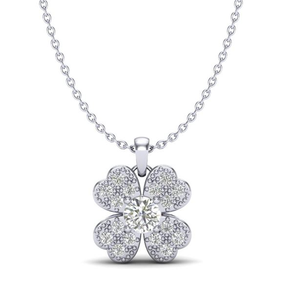 0.27 ctw Micro Pave VS/SI Diamond Certified Necklace 18k White Gold - REF-25Y6X