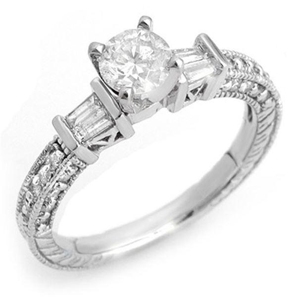 1.08 ctw Certified VS/SI Diamond Ring 14k White Gold - REF-117R3K