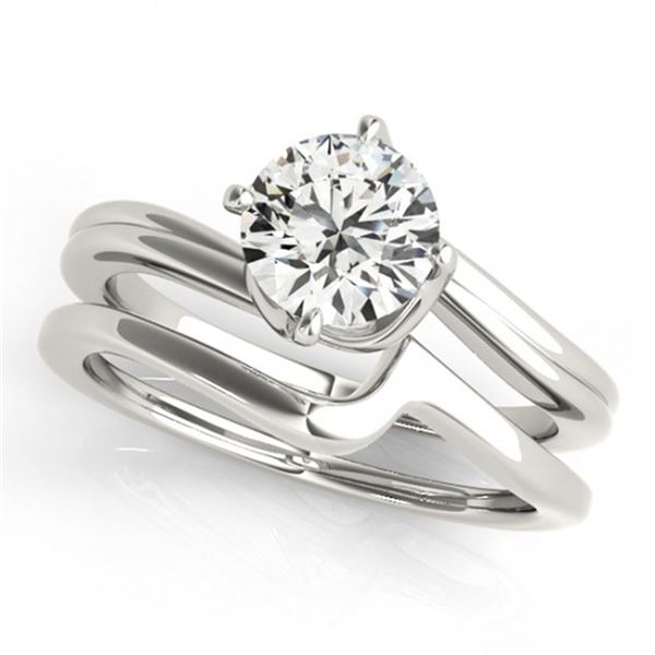 0.5 ctw Certified VS/SI Diamond Bypass 2pc Wedding Set 14k White Gold - REF-71A2N