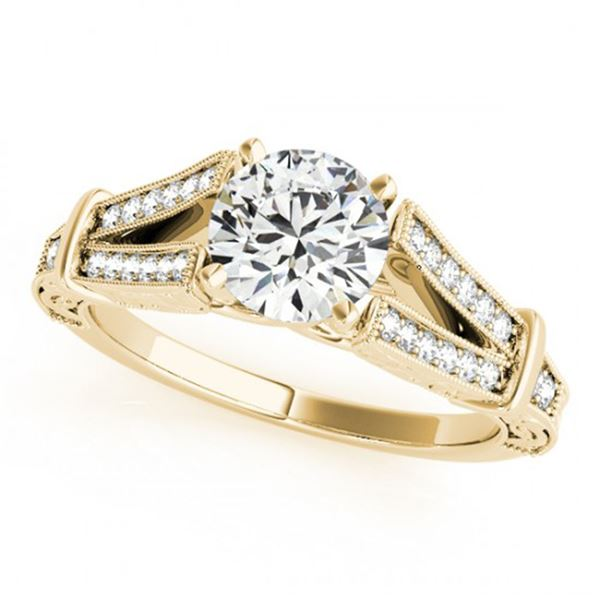 0.75 ctw Certified VS/SI Diamond Antique Ring 18k Yellow Gold - REF-113W2H