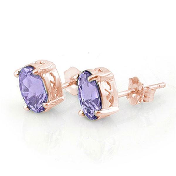 2.0 ctw Tanzanite Earrings 14k Rose Gold - REF-23X9A