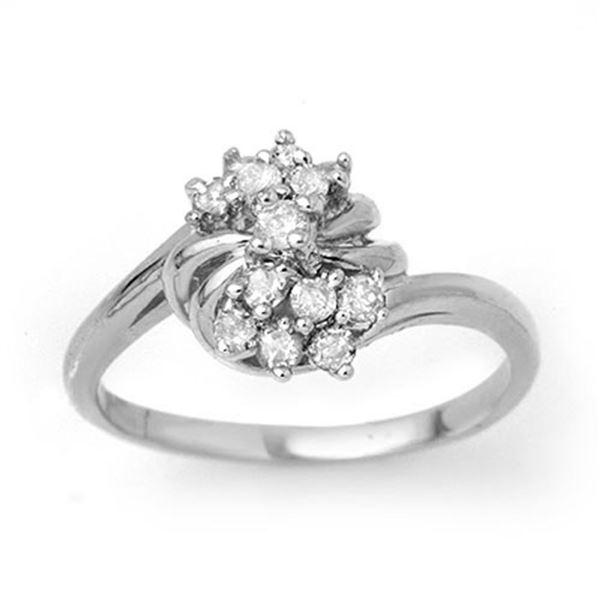 0.25 ctw Certified VS/SI Diamond Ring 18k White Gold - REF-36H6R
