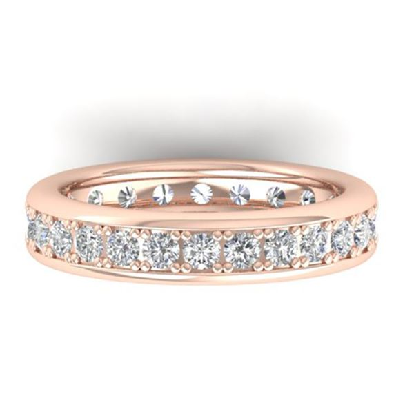 1.33 ctw VS/SI Diamond Eternity Band Men's SIZE 10 14k Rose Gold - REF-127H6R
