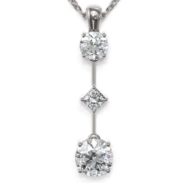 1.16 ctw Diamond Designer Necklace 18K White Gold - REF-163G3W