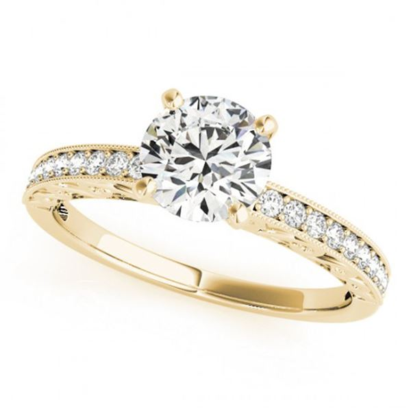 0.5 ctw Certified VS/SI Diamond Micro Pave Ring 18k Yellow Gold - REF-54X3A