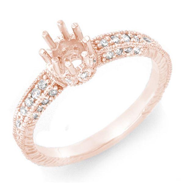 0.50 ctw Certified VS/SI Diamond Ring 14k Rose Gold - REF-30Y8X