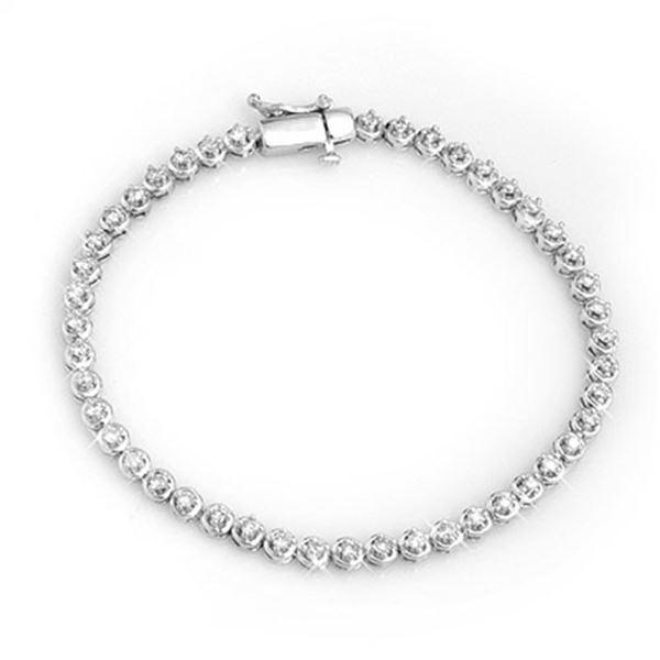 1.50 ctw Certified VS/SI Diamond Bracelet 10k White Gold - REF-125W5H